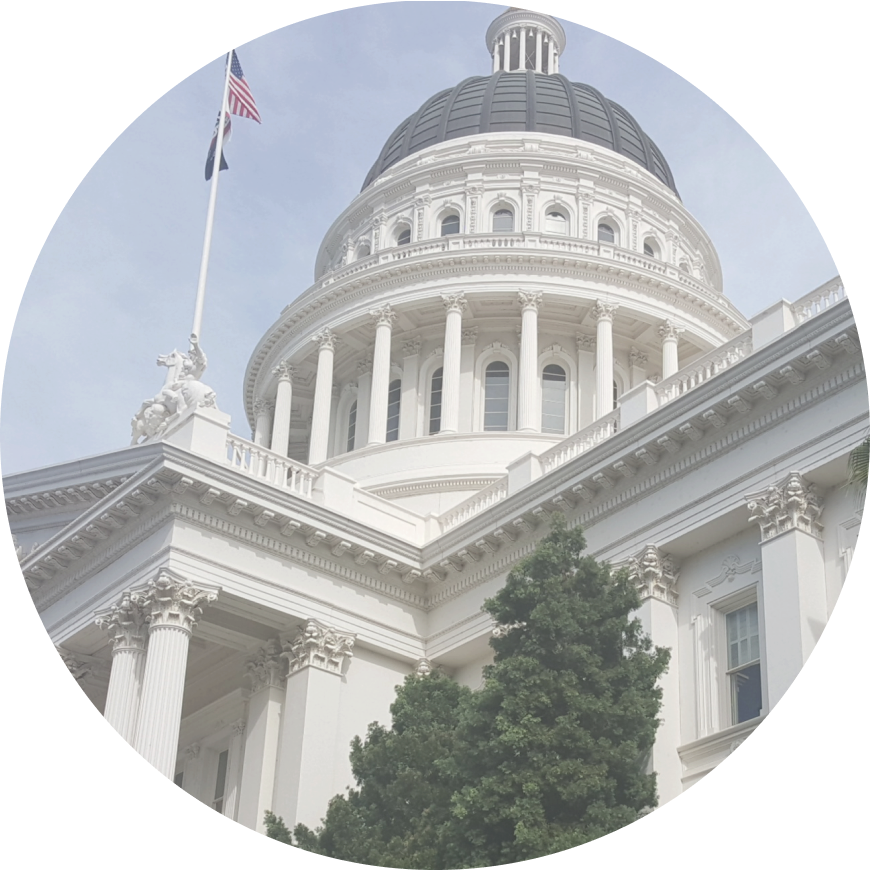 The CA State capitol building